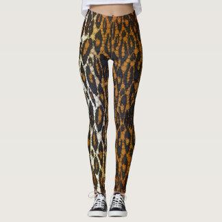 Stylish Brown Black Leopard Print Womens Leggings