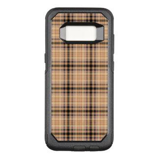 Stylish brown checkered Pattern OtterBox Commuter Samsung Galaxy S8 Case