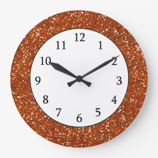 Stylish Brown Glitter Wallclocks