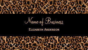 Animal print business cards zazzle uk stylish brown leopard print luxury animal pattern business card reheart Image collections