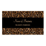 Stylish Brown Leopard Print Luxury Animal Pattern Pack Of Standard Business Cards
