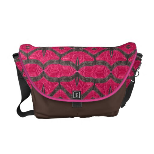 stylish brown pink pattern messenger bags