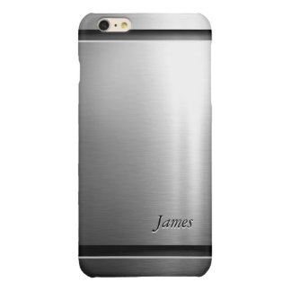 Stylish Brush Metal Stainless Steel Look iPhone 6 Plus Case