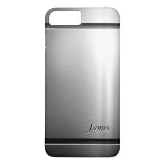 Stylish Brush Metal Stainless Steel Look iPhone 8 Plus/7 Plus Case