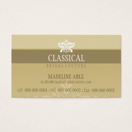 STYLISH BUSINESS CARD :: classy flourish 1L