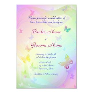 "Stylish Butterflies Wedding Invitation 5"" X 7"" Invitation Card"
