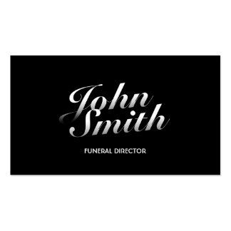 Stylish Calligraphic Funeral Business Card