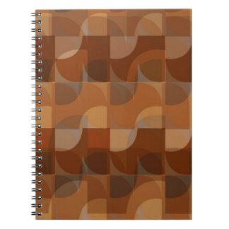 Stylish Cappuccino Pattern Notebook