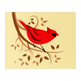 Stylish Cardinal Bird Art