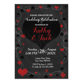Stylish casino wedding invitation