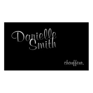 Stylish Chauffeur for Her Calligraphy Business Card Templates