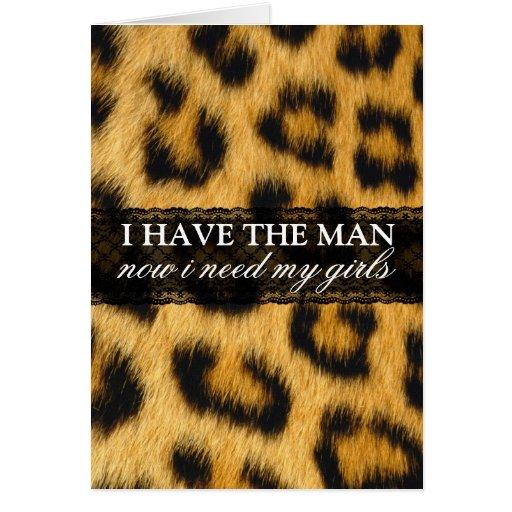 Stylish Cheetah Print Bridesmaid Request Card