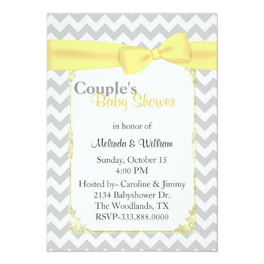 Stylish Chevron Couple's Baby Shower Invitation