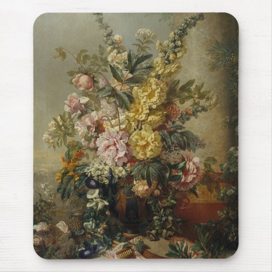 Stylish Chic Antique Floral Still Life Painting Mouse Mat
