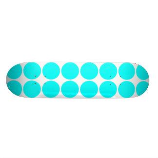 Stylish Chic Girly Cyan Polka Dots for Her Skate Board Decks