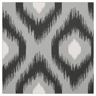 Stylish Chic Pink Black Diamond Ikat Pattern Fabric
