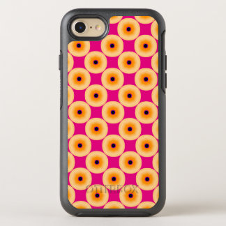 Stylish Chic Yellow and Hot Pink Polka Dot OtterBox Symmetry iPhone 7 Case