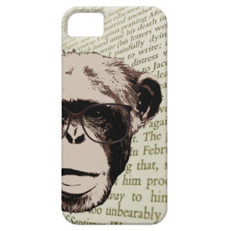 Stylish Chimp in Glasses iPhone 5 Case