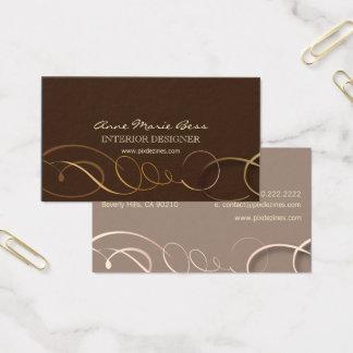 Stylish chocolate business cards