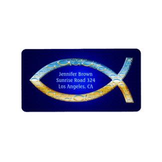Stylish Christian Fish | share your Faith Address Label