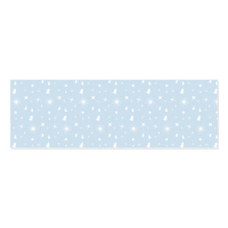 Stylish Christmas Stars Pattern Baby Blue White Business Card Template