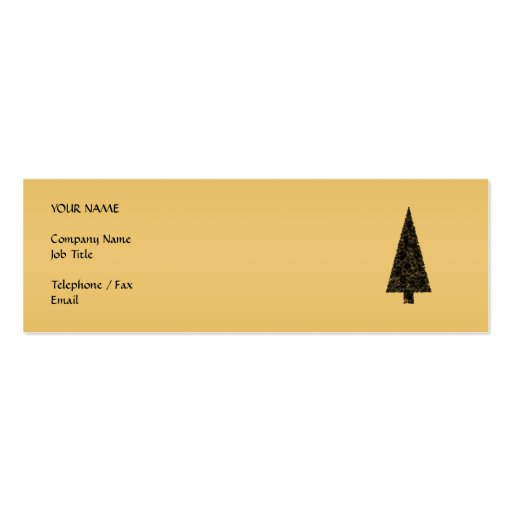 Stylish Christmas Tree. Black and Gold. Pack Of Skinny Business Cards