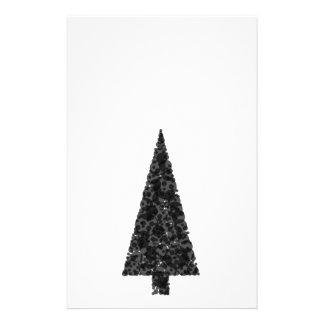 Stylish Christmas Tree. Black and White. 14 Cm X 21.5 Cm Flyer