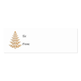 Stylish Christmas Tree Gift Tags Business Card Template