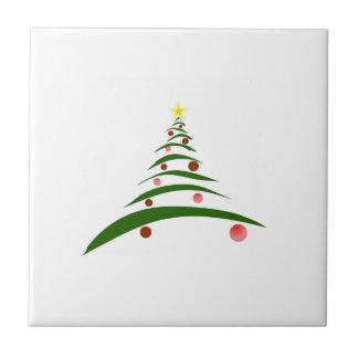 Stylish Christmas Tree Small Square Tile