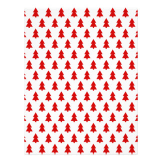 Stylish Christmas Trees Red Pattern Gift Full Color Flyer