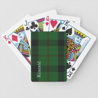 Stylish Clan Kincaid Tartan Plaid Playing Cards