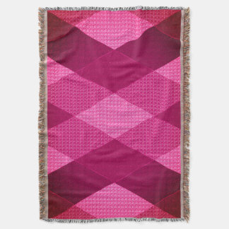 Stylish-Classic-Pink-Quilt-Love Throw Blanket