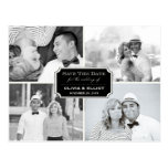 Stylish Classic Plate Save The Date Photo Postcard Post Cards