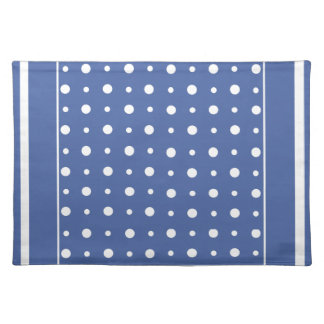 Stylish Cloth Placemat, Dark Blue Polka Dots Placemat