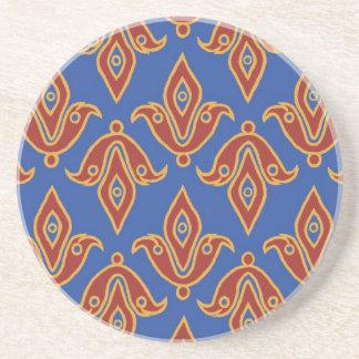 Stylish Coaster, Red, Gold, Blue Fleur de Lys