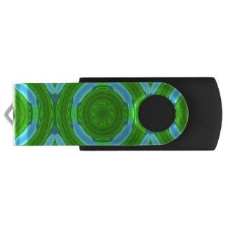 Stylish colorful circle swivel USB 3.0 flash drive