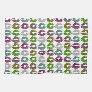 Stylish Colorful Lips #2 Tea Towel