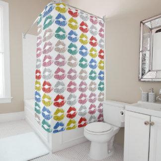 Stylish Colorful Lips #36 Shower Curtain