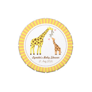Stylish Colourful Giraffe Baby Shower Party Favor Jelly Belly Candy Tin