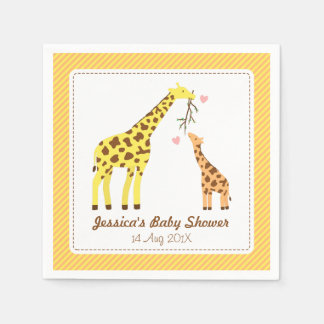 Stylish Colourful Giraffe Calf Baby Shower Party Disposable Serviette