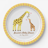 Stylish Colourful Giraffe Calf Baby Shower Party. Plates  sc 1 st  Zazzle & Giraffe Kitchen Accessories u0026 Supplies | Zazzle.co.uk