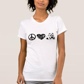 Stylish & Comfy Peace - Love - Pit Bulls Tee Shirt