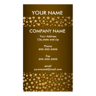 Stylish Confetti Gold Dots Pattern Golden Brown Pack Of Standard Business Cards