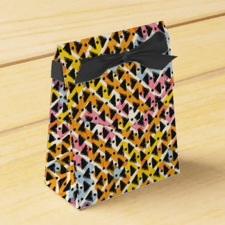 Stylish contemporary colourful criss cross weave wedding favour box
