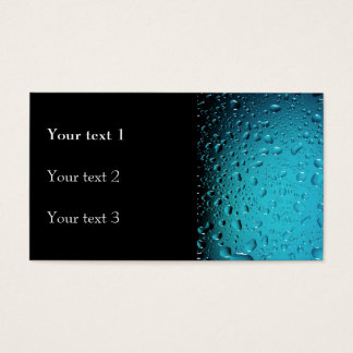 Stylish Cool Blue water drops Business Card