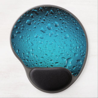 Stylish Cool Blue water drops Gel Mouse Pad