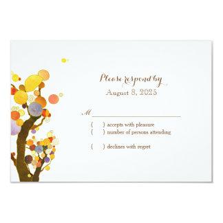 Stylish Country Trees Wedding RSVP 9 Cm X 13 Cm Invitation Card