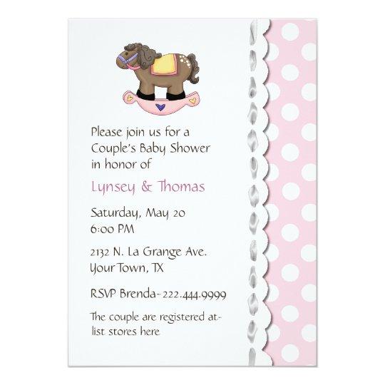 Stylish Couple's Baby Shower Invitation