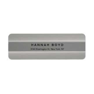 Stylish Creative Grey Modern Professional Return Address Label