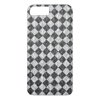 Stylish Cross Thatch Weave Black & White Checkers iPhone 7 Plus Case